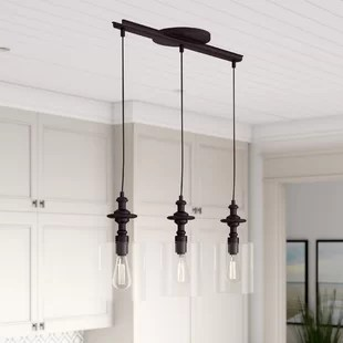 kitchen pendents under mount sink island pendants birch lane humphries 3 light pendant