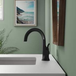 modern matte black bathroom sink