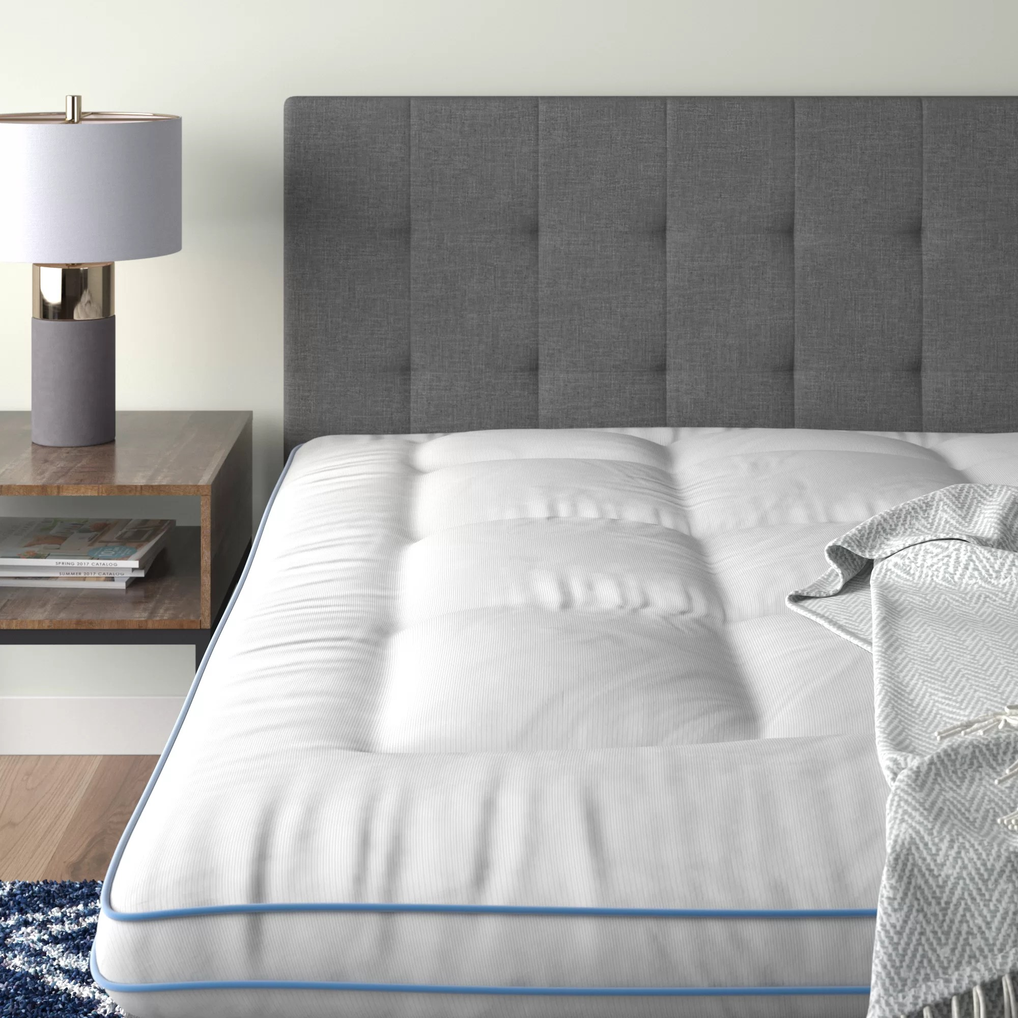 3 memory fiber memory foam hybrid mattress topper