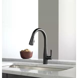 essa pull down single handle kitchen faucet
