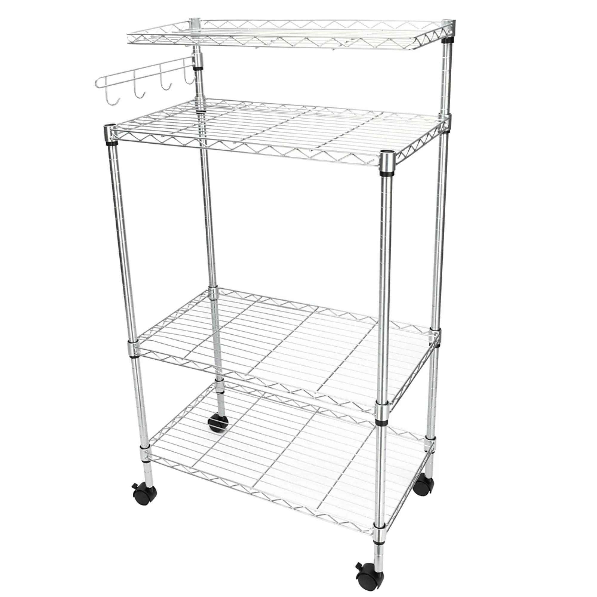 eldert 4 tier storage rack microwave cart