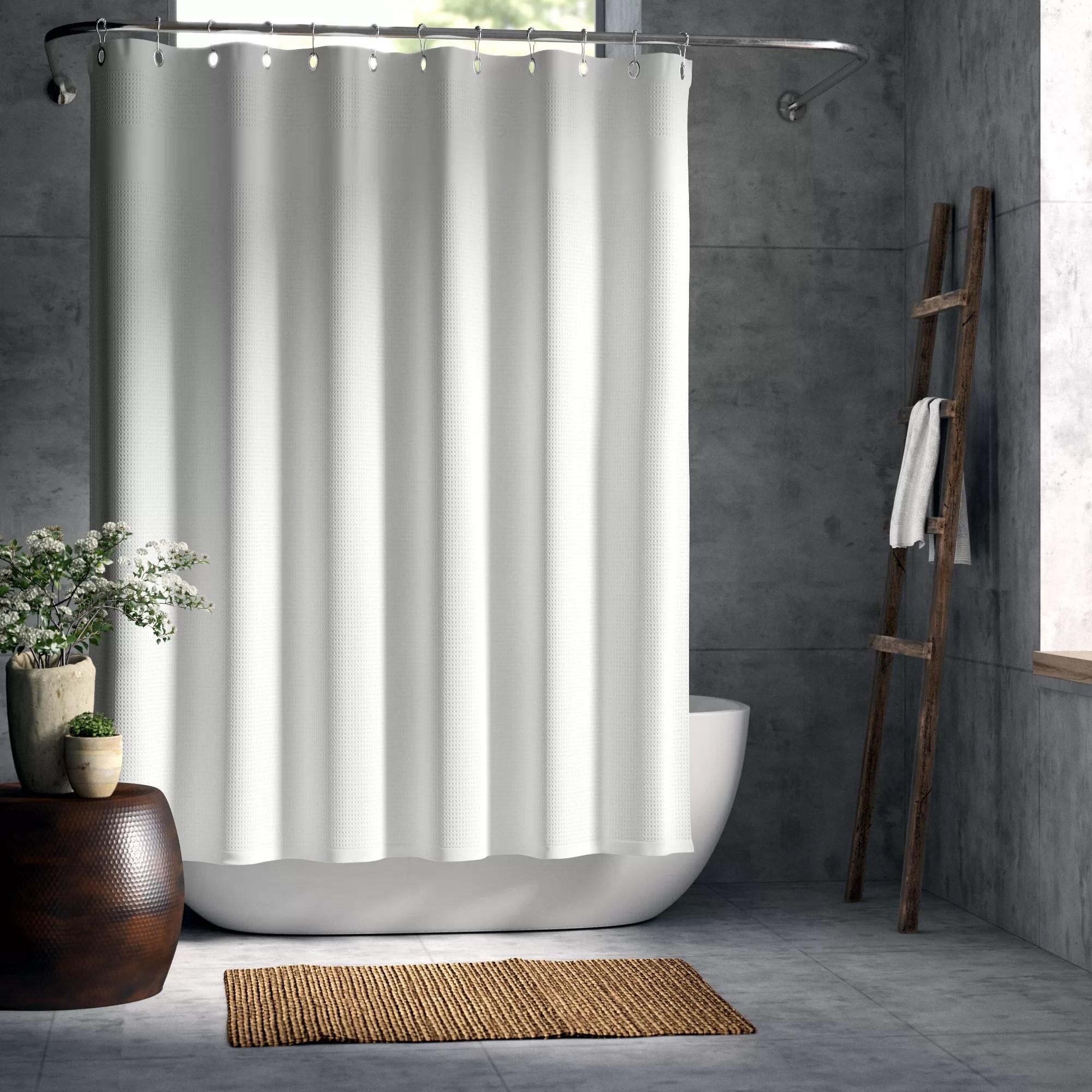 la crosse extra heavy hotel quality cotton shower curtain single hooks