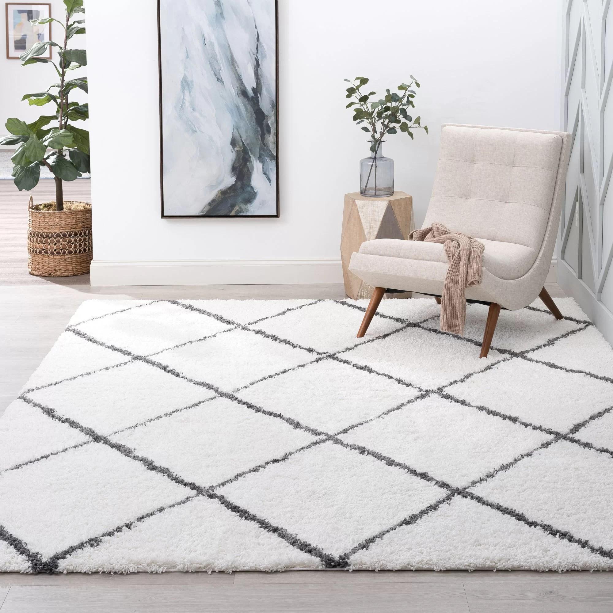 babich geometric white grey area rug