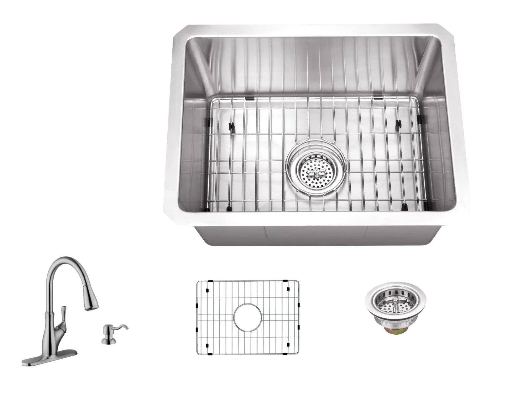 20 l x 15 w undermount bar sink with faucet