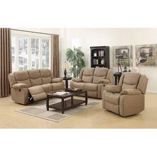 recliner living room set simple and elegant false ceiling designs for reclining sets you ll love wayfair ca save