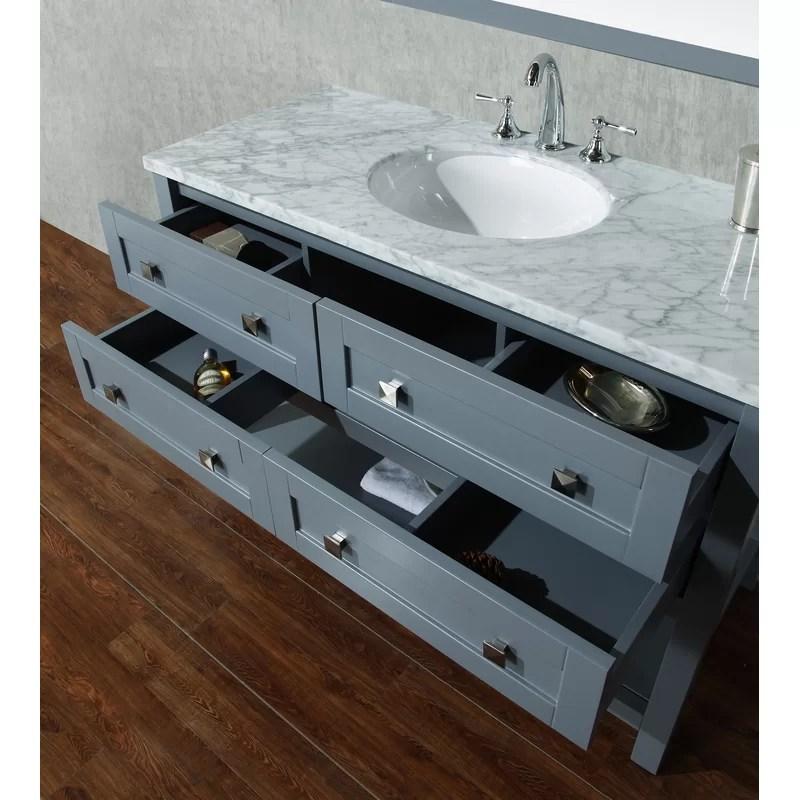 Brayden Studio Immingham 48 Single Modern Bathroom Vanity Set With Mirror Reviews Wayfair