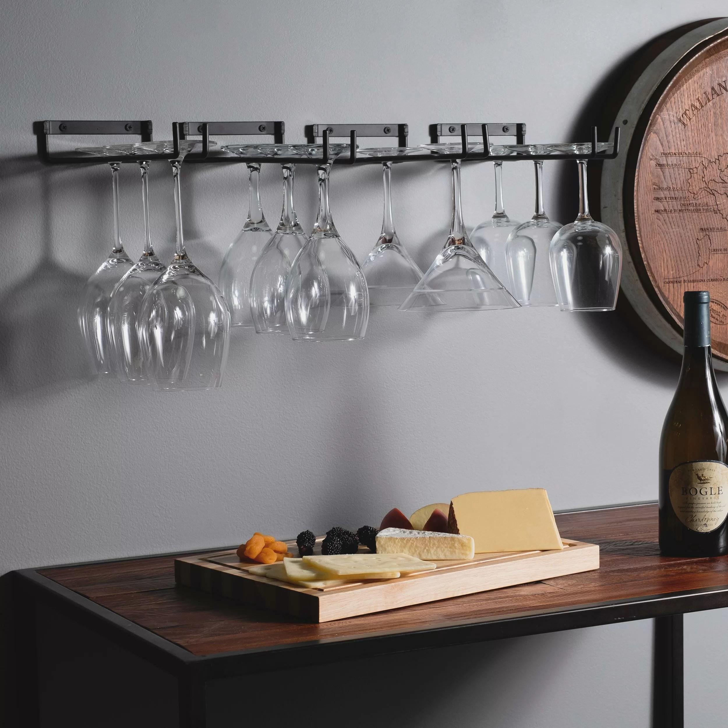 wellman chiraz hanging wine glass rack