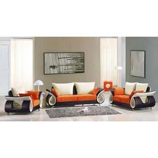 modern living room sets beautiful paintings for allmodern boltz 3 piece set