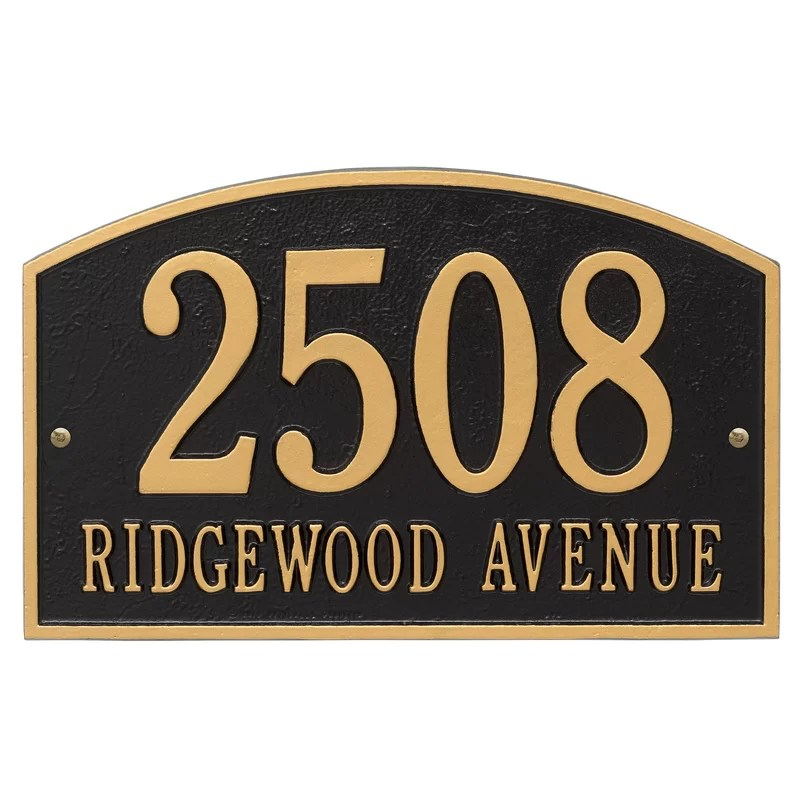 Address Signs Wood