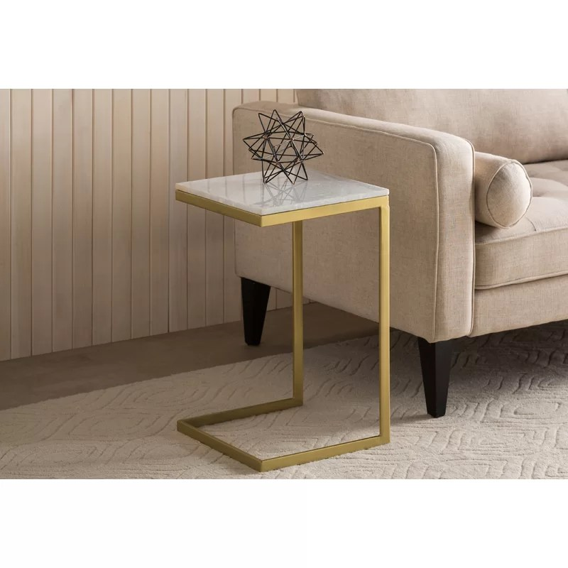bryes marble top c end table