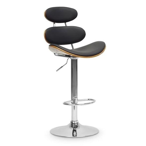 wholesale interiors baxton studio adjustable height swivel bar stool wayfair