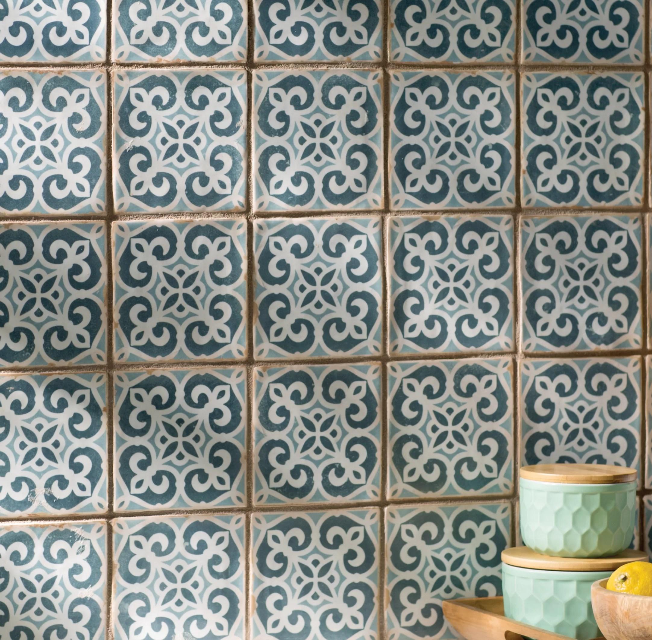 archivo 5 x 5 ceramic patterned wall floor tile