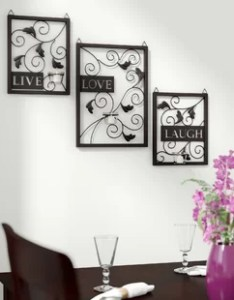 Live love laugh piece black wall decor set also metal art rh wayfair