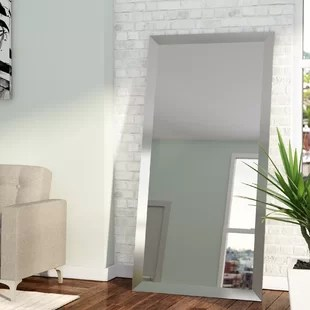 wall mirror living room how to decorate ideas mirrors you ll love wayfair rectangle nickel