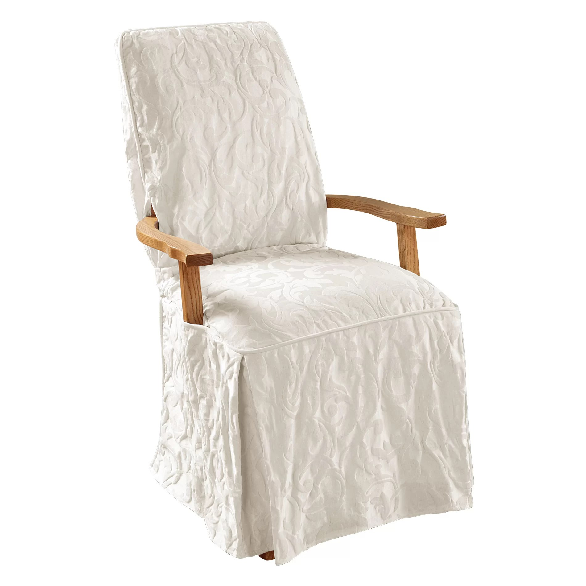 Damask Chair Matelasse Damask T Cushion Armchair Slipcover
