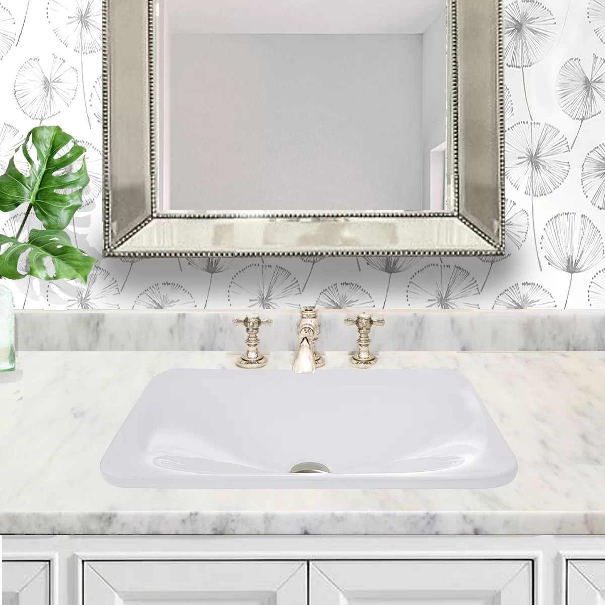 great point vitreous china rectangular drop in bathroom sink