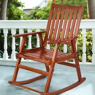 foldable rocking chair white wicker outdoor chairs wood folding wayfair sizemore