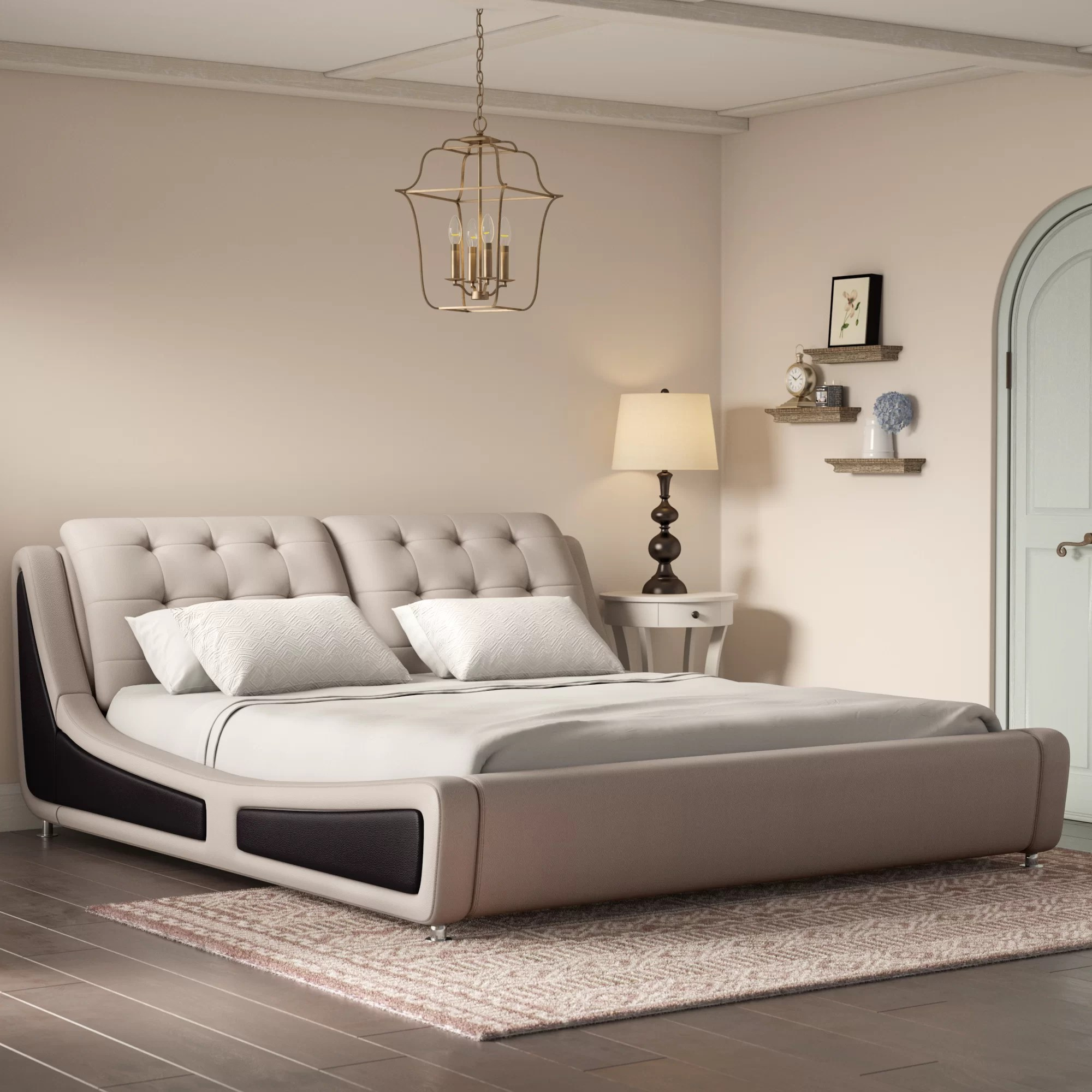 Wade Logan Bosworth Upholstered Platform Bed Reviews