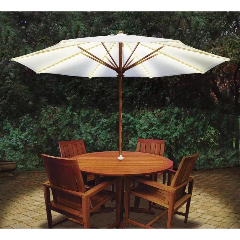 brella lights patio umbrella lighting system with power pod with 6 rib