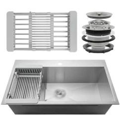 Single Sink Kitchen Base Cabinet Depth Basin Sinks You Ll Love Wayfair Quickview