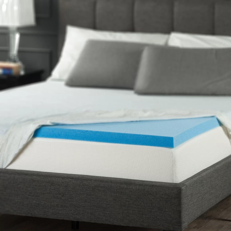 2 gel memory foam mattress topper