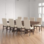 9 Piece Set Best Quality Furniture Beige Linen Look Upholstered Cappuccino Dining Table Chair Sets