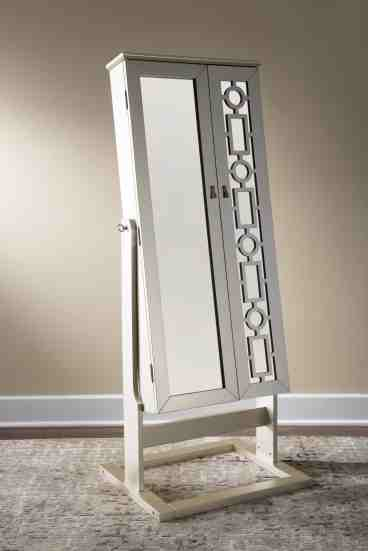 Darby Home Co Cristobal Cheval Free Standing Jewelry Armoire With Mirror Reviews Wayfair