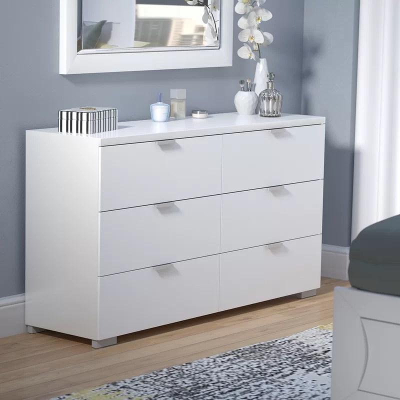 louie 6 drawer double dresser
