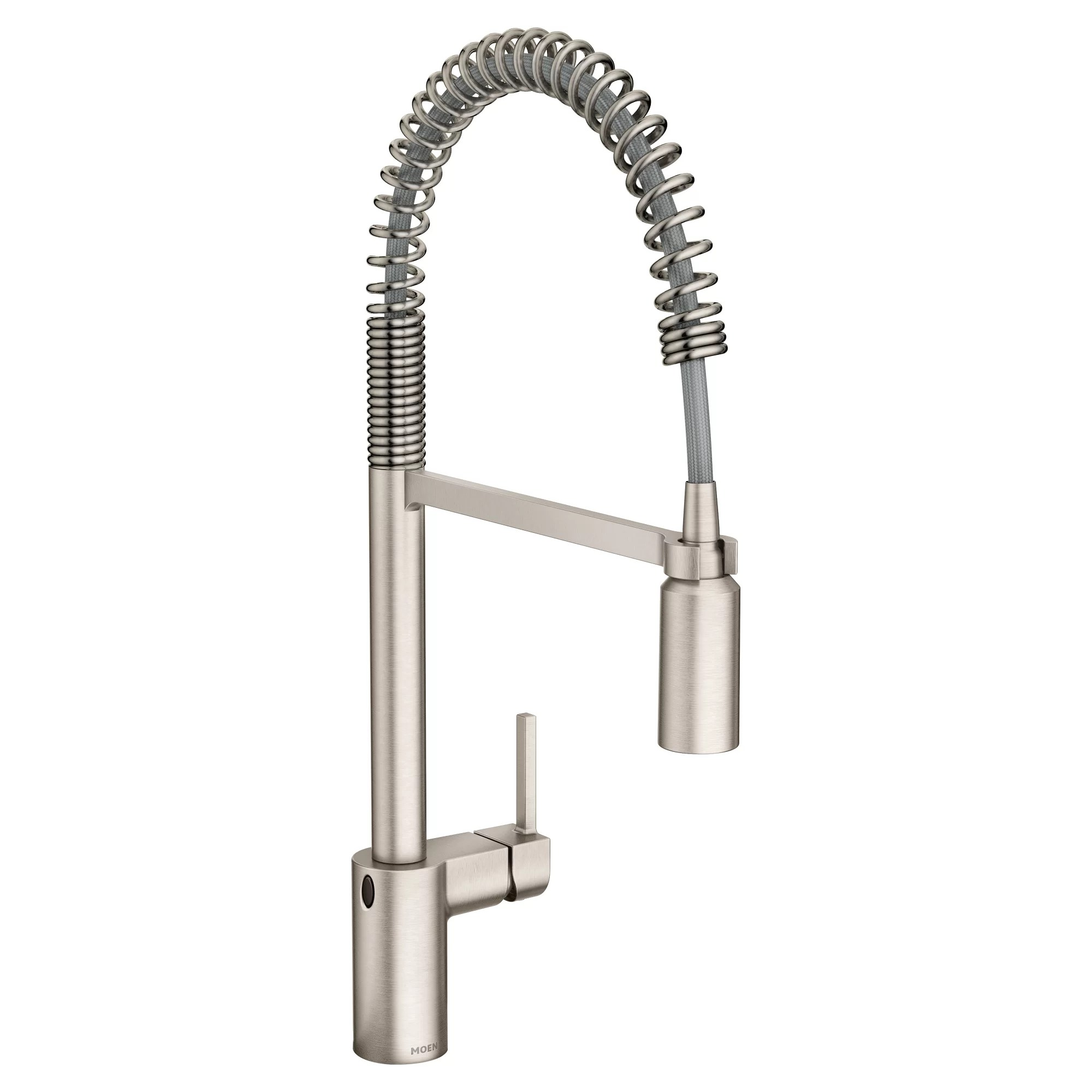 motion faucet kitchen white beadboard cabinets moen align pull down touchless single handle with motionsense powerclean and duralock reviews wayfair ca