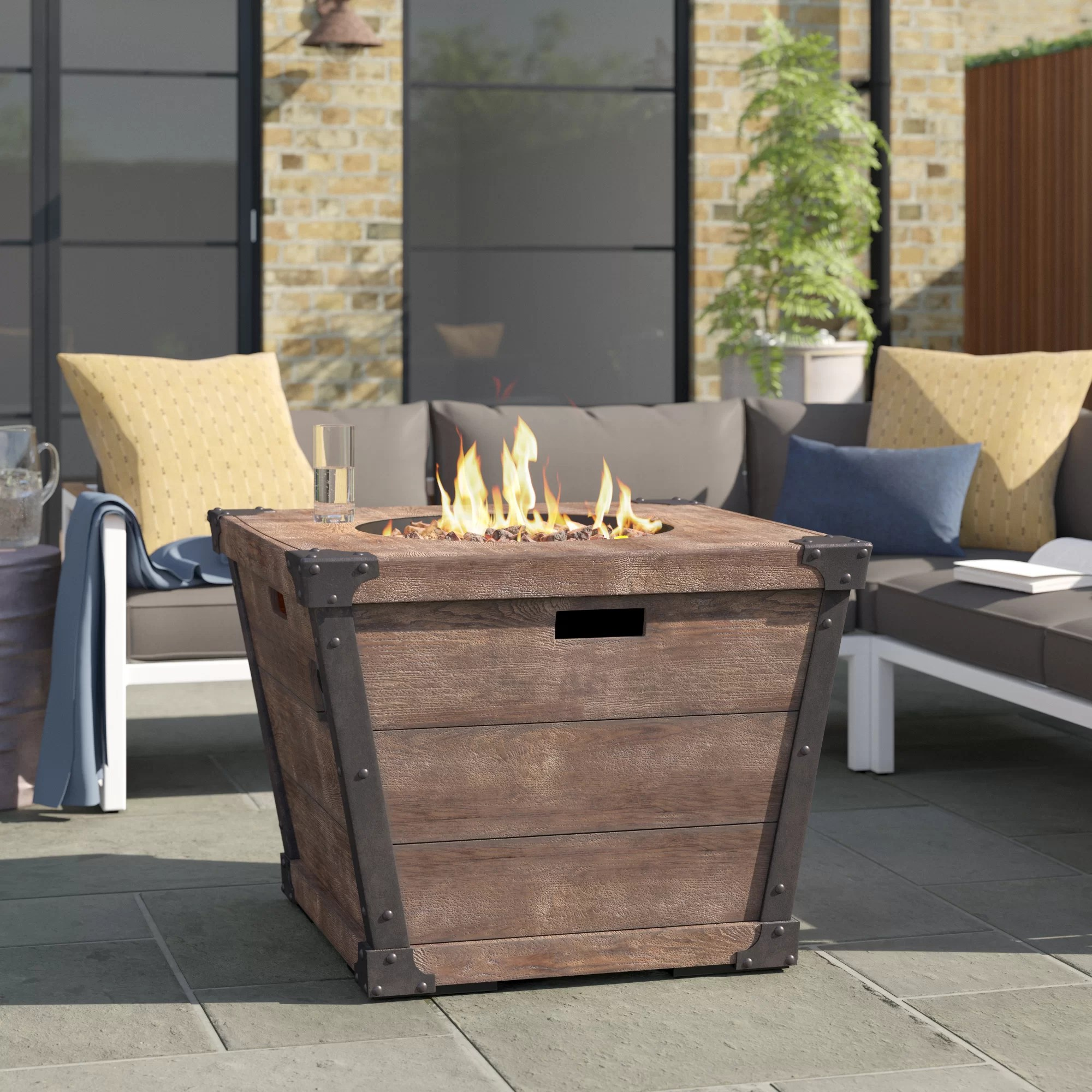 coomes 23 75 h x 32 w concrete propane outdoor fire pit table