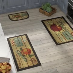 Kitchen Rugs And Mats Free Standing Island You Ll Love Wayfair Corrine 3 Piece Fruit Crate Mat Set