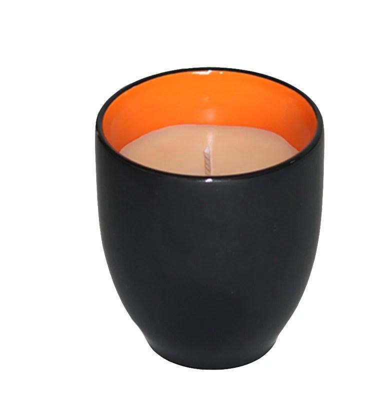 Mandarin & Vanilla Bean Scented Jar Candle