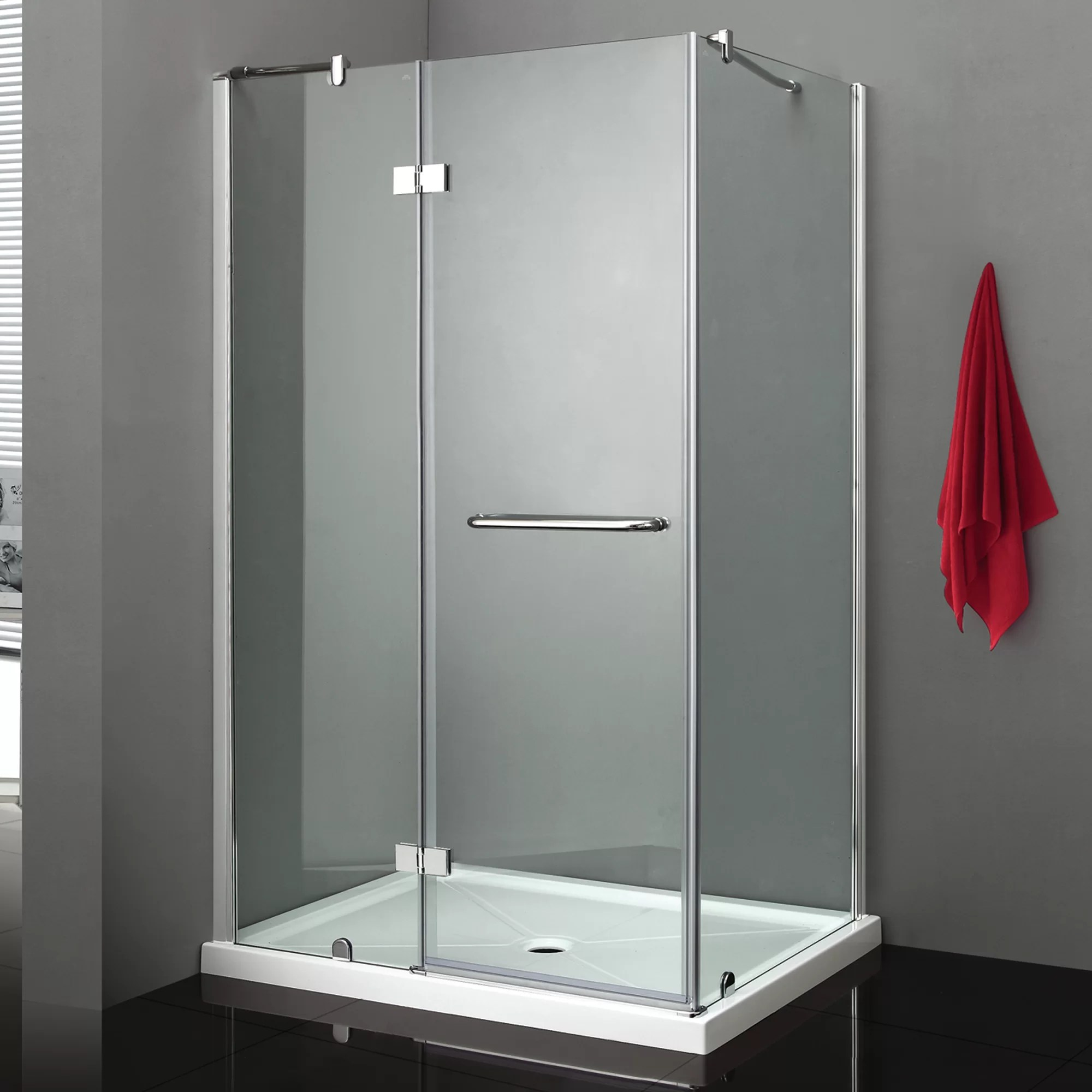 Quadro Rectangle Hinged Shower Enclosure With Base Included
