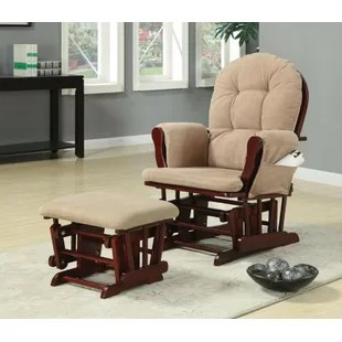 nursery rocking chair wayfair ladder back chairs with rush seats rocker maghull baby manual glider recliner ottoman