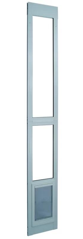 11 1 2 x 77 5 8 80 3 8 medium white modular pet patio door