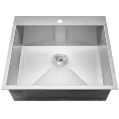 Gray Kitchen Sink Hot Pads Sinks Joss Main 25 X 22 Drop In Top Mount Stainless Steel Single Bowl W Dish Grid And Drain Strainer Kit