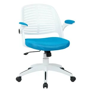 turquoise office chair luxury christmas covers modern contemporary desk allmodern quickview