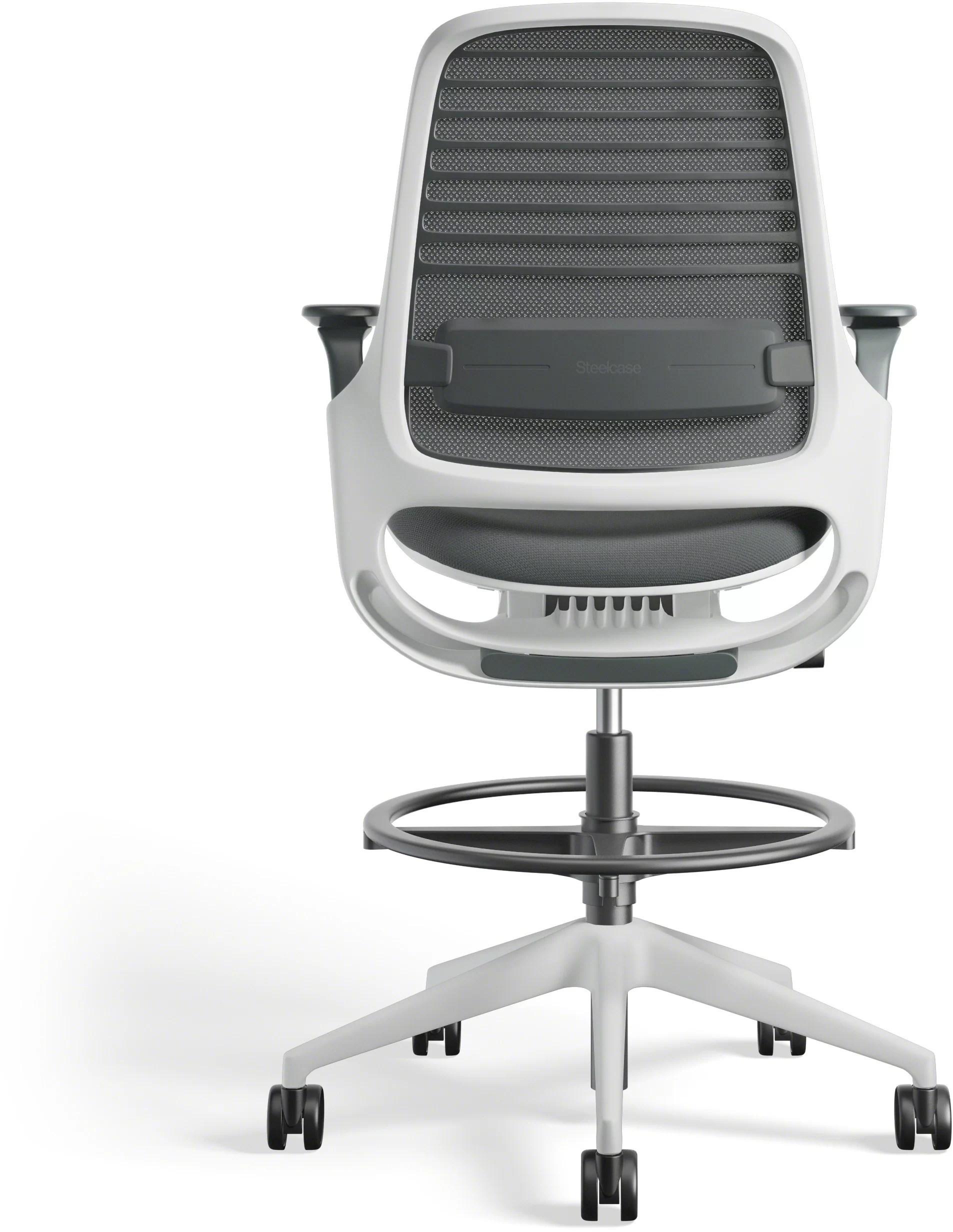 chair mesh stool turquoise adirondack chairs steelcase series 1 office wayfair