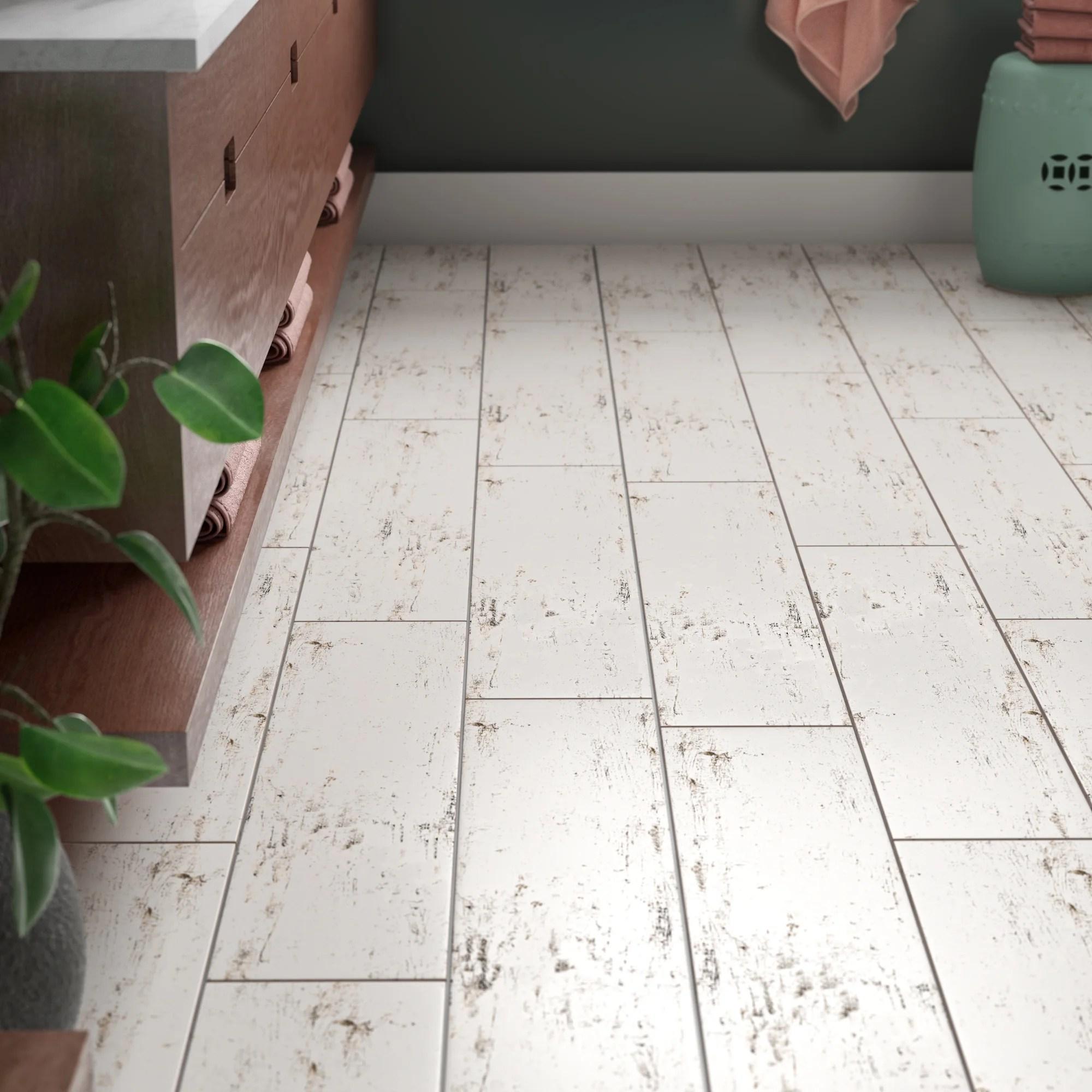 vintage 8 x 36 porcelain wood look wall floor tile