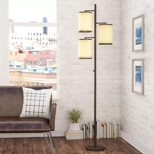 living room standing lamp decorate small floor lamps you ll love wayfair ca deroche 74 tree