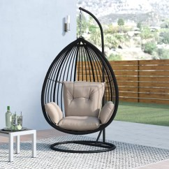 Hanging Chair Lahore Folding Foam Bed Audra Swing With Stand Reviews Joss Main