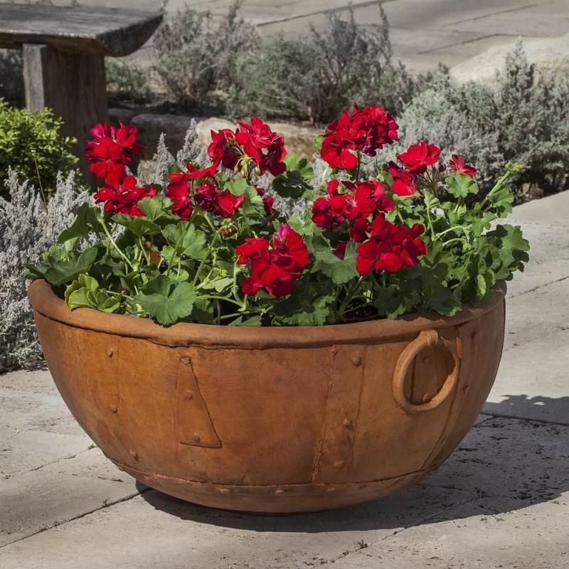 Kettle Cast Stone Pot Planter Color: Brownstone