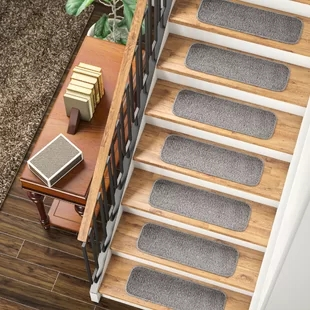 Stair Tread Rugs You Ll Love In 2020 Wayfair | Carpet Squares For Stairs | Diy | Right Price Carpet | Hallway | Interior Modern | Stair Carpet Installation