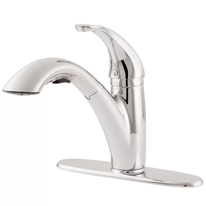 parisa pull out single handle kitchen faucet