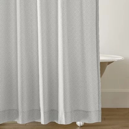 luxury gray silver shower curtains