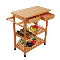 Kitchen Rolling Cart Framed Chalkboard For Islands Carts You Ll Love Wayfair Ca Laforest Trolley Portable Serving With Drawer Basket And Shelves