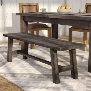 bench for kitchen table solid wood island dining benches you ll love wayfair ca colborne