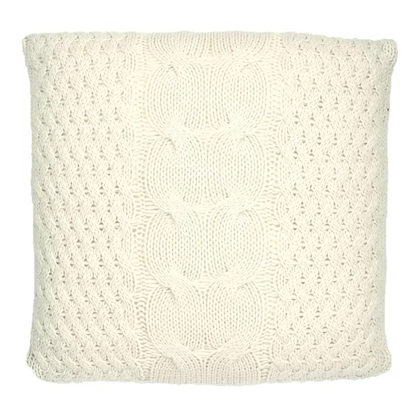 chunky cable knit pillow