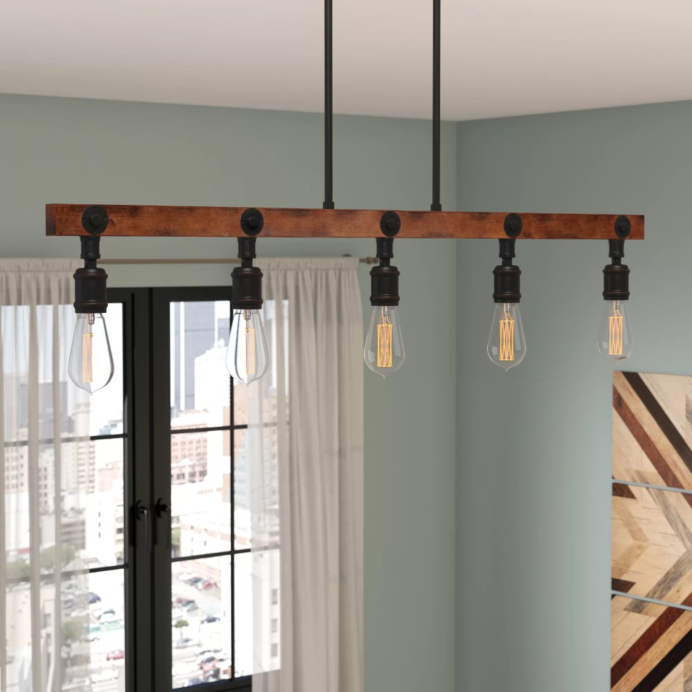medium resolution of trent austin design davidson 5 light kitchen island pendant reviews wayfair