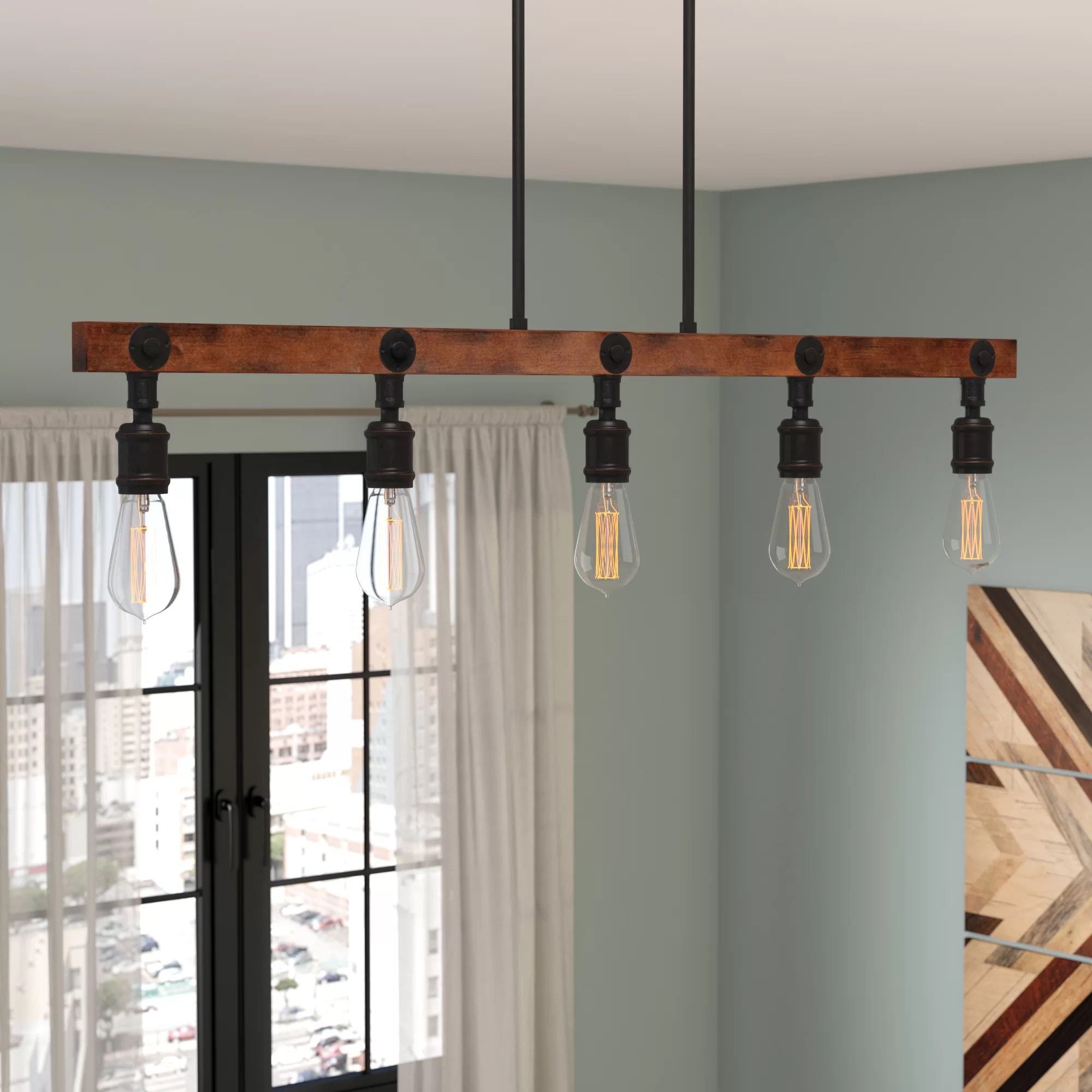 hight resolution of trent austin design davidson 5 light kitchen island pendant reviews wayfair